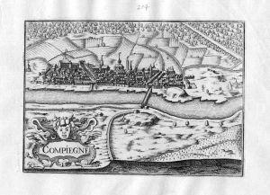 Compiegne - Compiegne Oise Picardie Tassin gravure estampe Kupferstich engraving