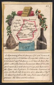Lot - Cahors Lot Frankreich France playing card carte a jouer Spielkarte Kupferstich copper engraving antique