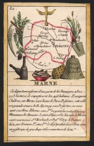 Marne - Chalons Marne Frankreich France playing card carte a jouer Spielkarte Kupferstich copper engraving ant