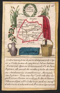 Lot et Garonne - Agen Lot et Garonne Frankreich France playing card carte a jouer Spielkarte Kupferstich coppe