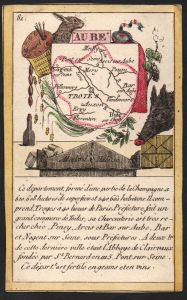Aube - Troyes Aube Frankreich France playing card carte a jouer Spielkarte Kupferstich copper engraving antiqu