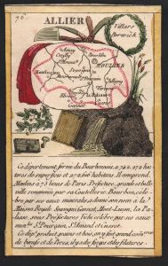 Allier - Moulins Allier Frankreich France playing card carte a jouer Spielkarte Kupferstich copper engraving a