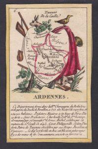 Ardennes - Charleville-Mézières Ardennen Frankreich France playing card carte a jouer Spielkarte Kupferstich c
