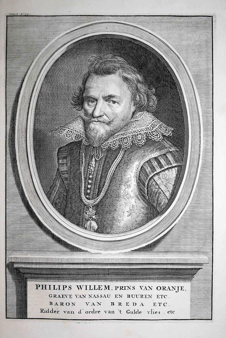 Philips Willem,Prins van Oranje - Philipp Wilhelm Oranien Prince Orange Portrait Kupferstich engraving antique