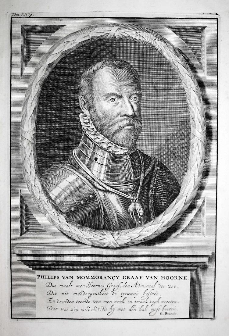 Philips van Mommorancy, Graaf van Hoorne - Philippe de Montmorency Hoorn Nederland Portrait Kupferstich engrav