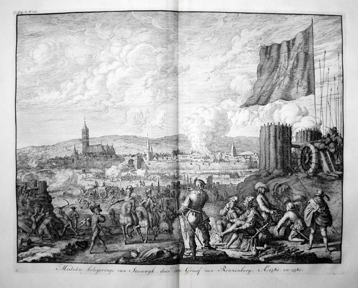 Mislukte belegeringe van Steenwyk, door den Graaf van Rennenberg, A. 1580. en 1581. - Steenwijk Overijssel bel