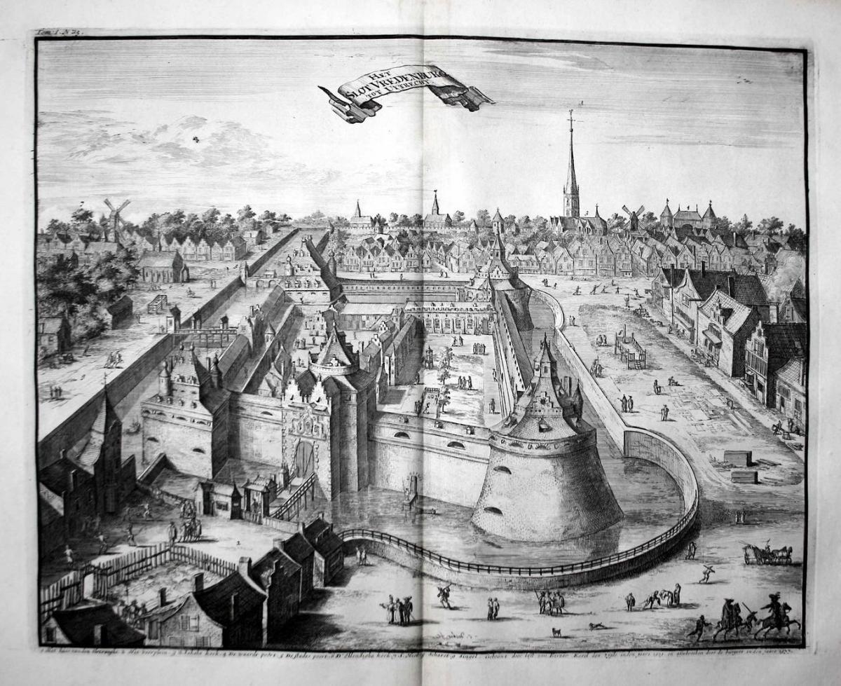 Het Slot Vredenburg tot Uytrecht - Vredenburg Castle Utrecht Nederland Holland gravure Kupferstich engraving a