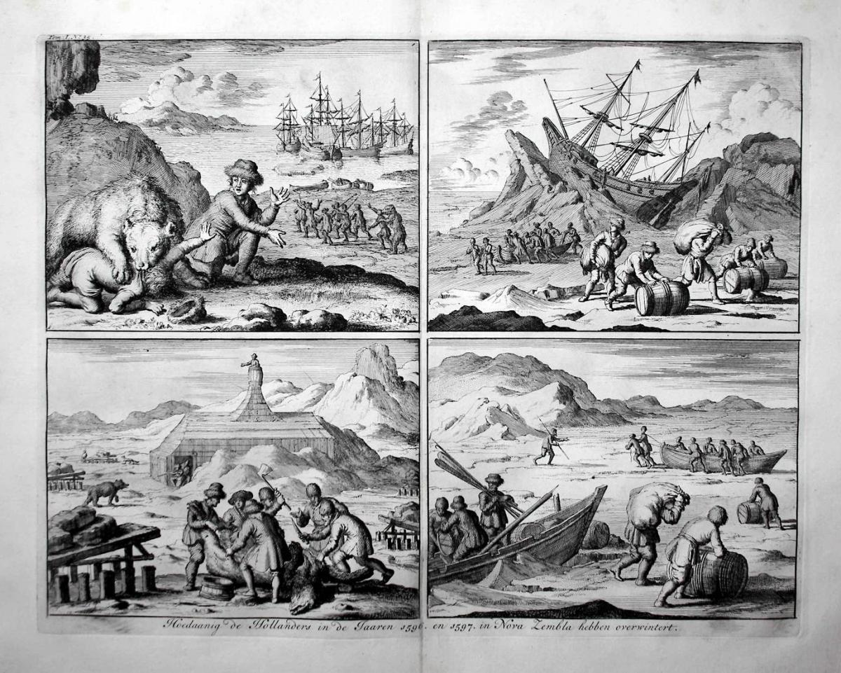Hoedaanig de Hollanders in de Jaaren 1596. en 1597. in Nova Zembla hebben overwintert - Nova Zembla Nowaja Sem