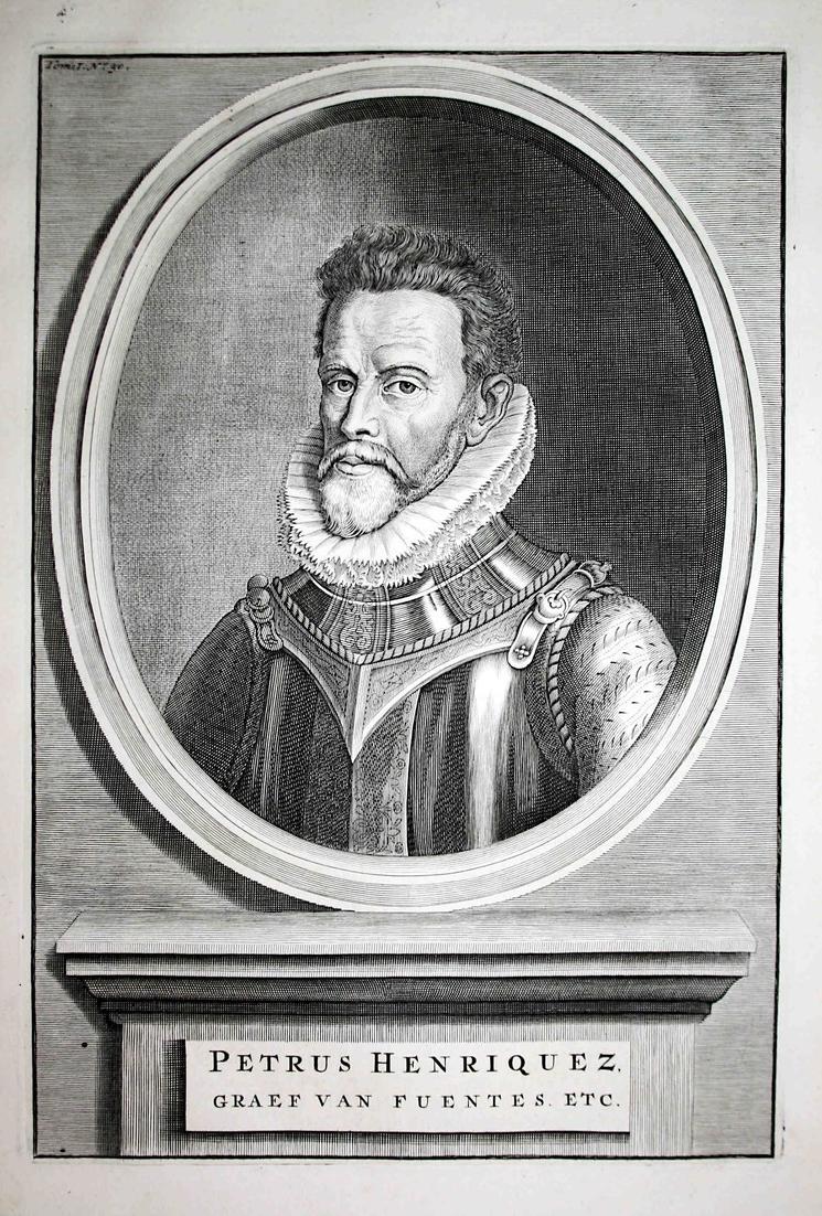 Petrus Henriquez - Pedro Henriquez de Acevedo Toledo Fuentes Portrait Kupferstich engraving antique print