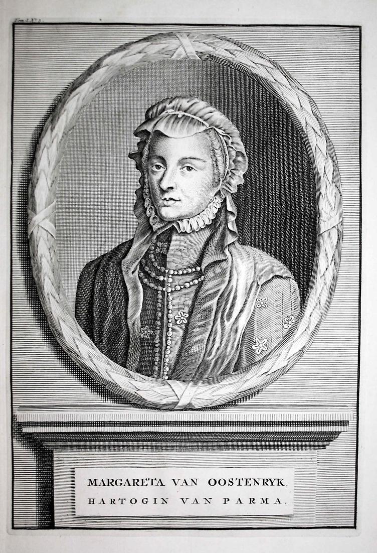 Margareta van Oostenryk - Margarethe von Österreich Erzherzogin Hall Tirol Stift Portrait Kupferstich engravin