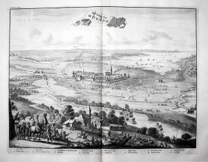 Het beleg van Woerde - Beleg van Woerden Holland Nederland Siege Belagerung gravure Kupferstich engraving anti