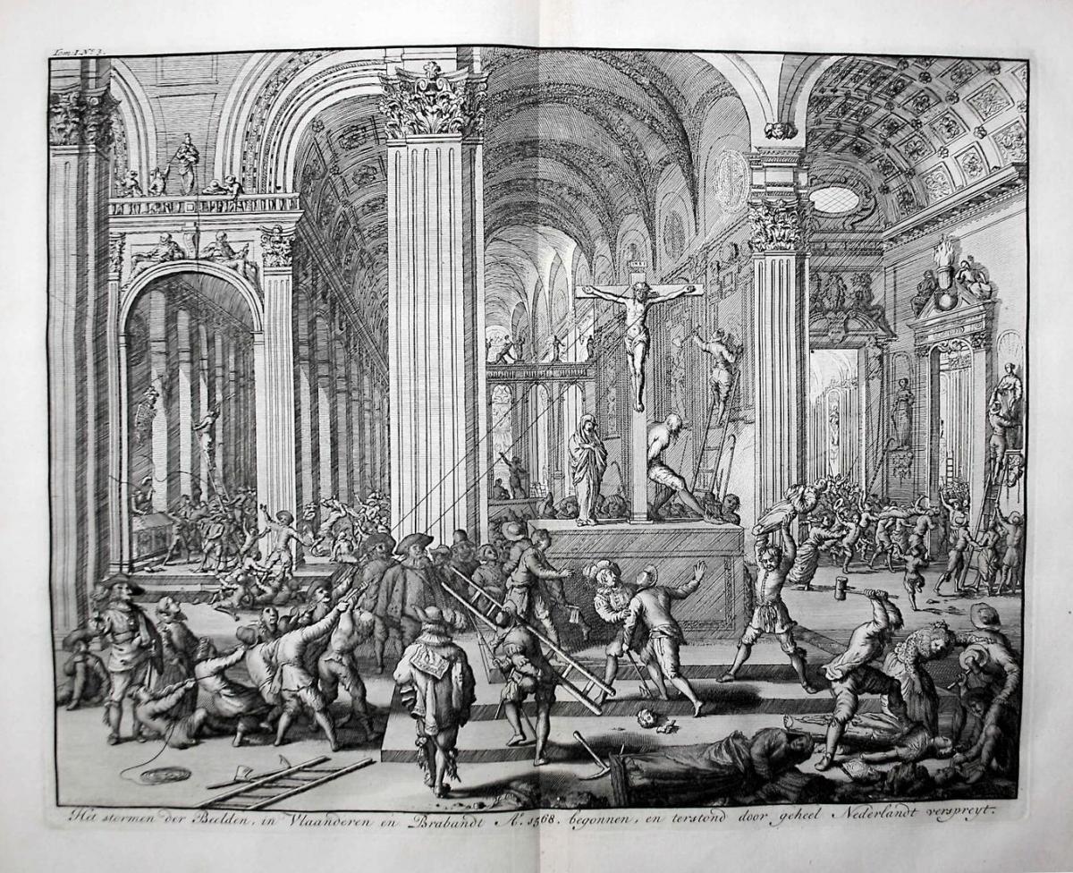Het stormen der Beelden, in Vlaanderen en Brabant A. 1568. begonnen, en terstond door geheel Nederlandt verspr