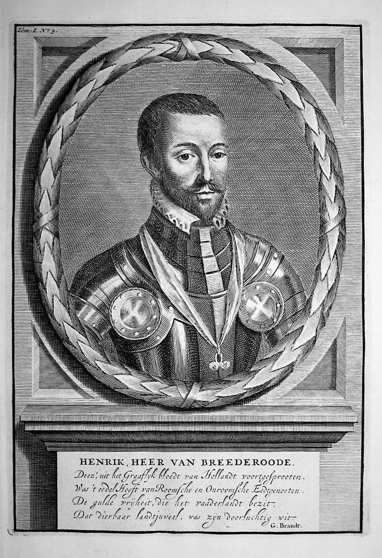 Henrik, Heer van Breederoode - Heinrich von Brederode Utrecht Hendrick Nederland Portrait Kupferstich engravin