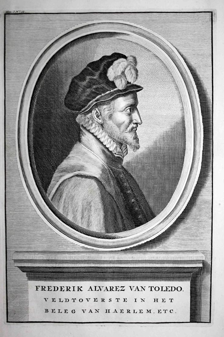 Frederik Alvarez van Toledo - Fadrique Alvarez de Toledo Alba Espana Spain Portrait Kupferstich engraving anti