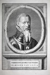 Ferdinand Alvarez van Toledo - Fernando Alvarez de Toledo Alba Pimentel Portrait Kupferstich engraving antique