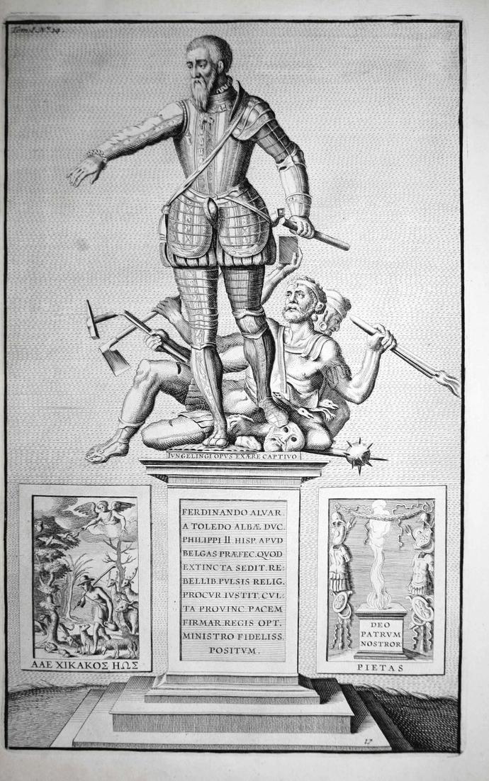 Ferdonando Alvar - Fernando Alvarez de Toledo Alba Pimentel Portrait Kupferstich engraving antique print