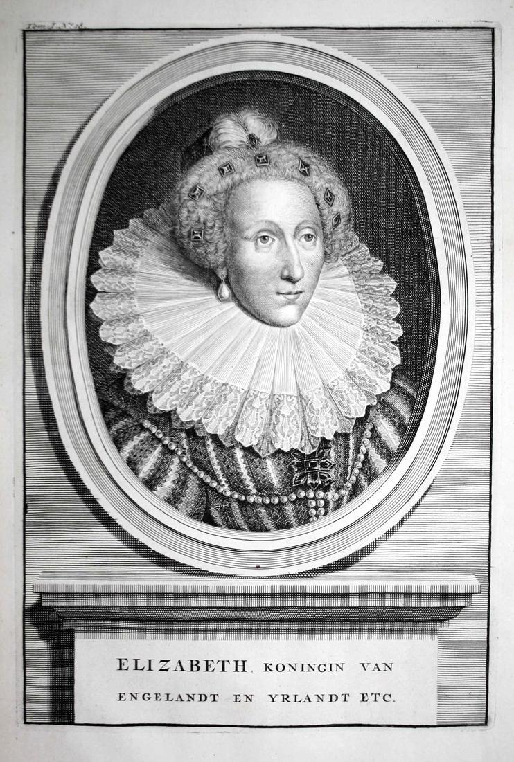 Elizabeth, Koningin van Englandt en Yrlandt - Elisabeth I. Elizabeth Englansd Queen Ireland Königin Portrait K 0