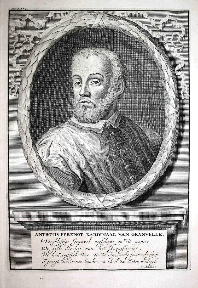 Anthonis Perenot, Kardinaal van Granvelle - Antoine Perrenot de Granvelle Kardinal cardinal Nederland Portrait
