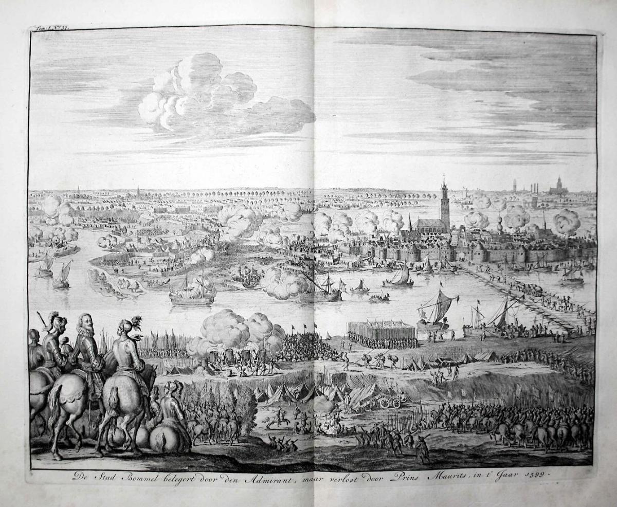 De Stad Bommel belegert door den Admirant, maar verlost door Prins Maurits, in t' Jaar 1599 - Siege of Zaltbom