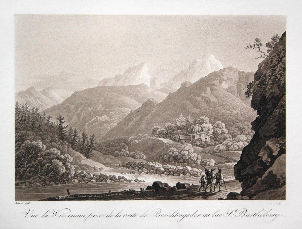 Vue du Watzmann, prise de la route de Berchtesgaden au lac St. Barthelemy - Watzmann Berchtesgaden Alpen Berg