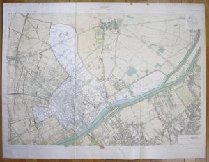 Asnieres - Asnières-sur-Seine Gennevilliers Bois-Colombes Clichy plan de la ville city map Paris