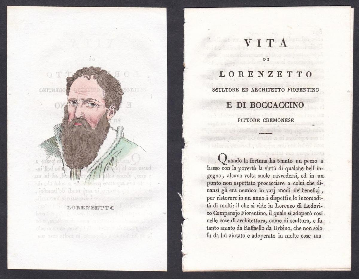 Lorenzetto - Lorenzetto Architekt architect Italien Italia Portrait Kupferstich copper engraving antique print
