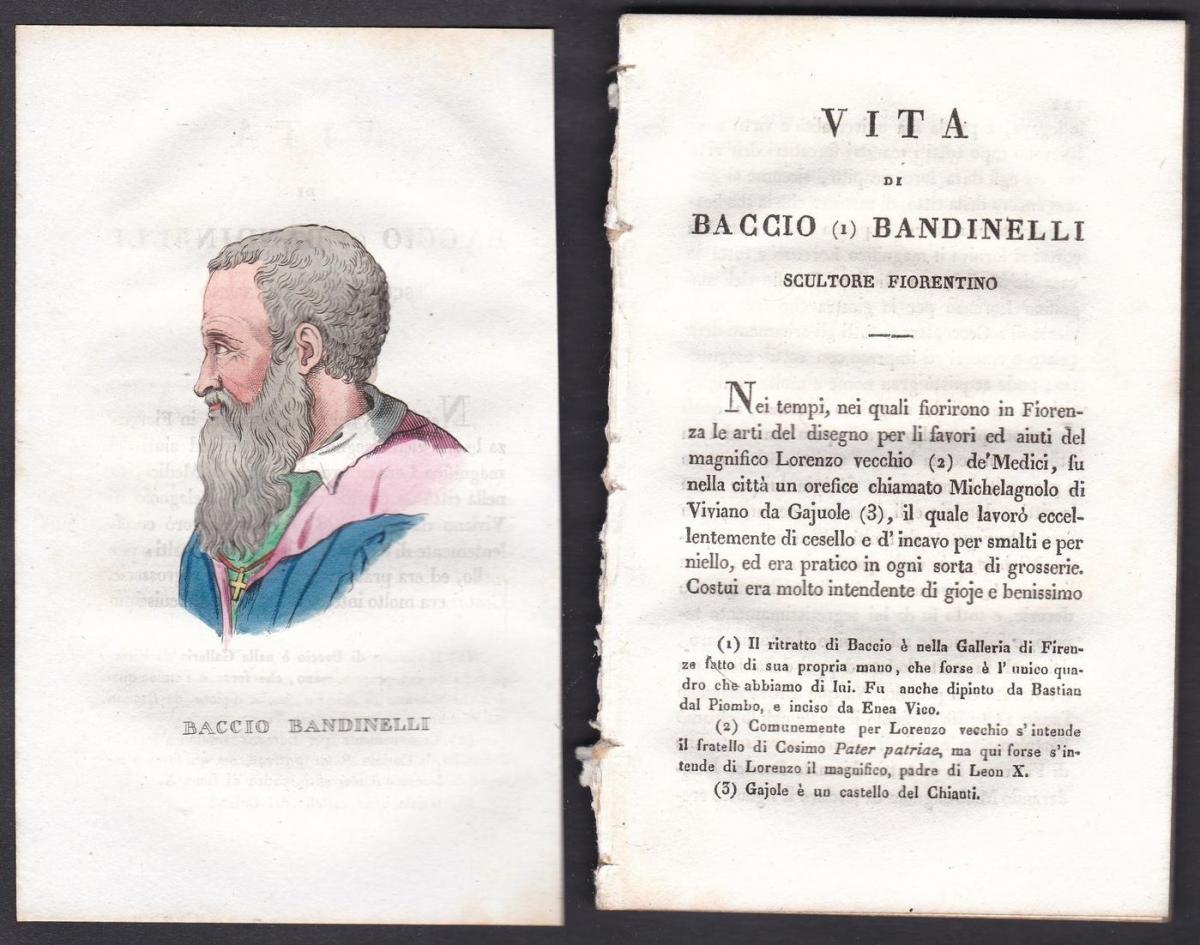Baccio Bandinelli - Baccio Bandinelli Bildhauer sculptor Italien Italia Portrait Kupferstich copper engraving