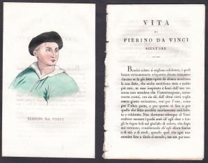 Pierino da Vinci - Pierino da Vinci Bildhauer sculptor Italien Italia Portrait Kupferstich copper engraving an