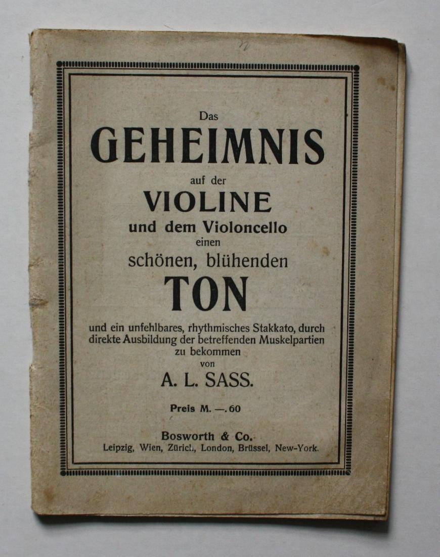 Das Geheimnis auf der Violine und dem Violoncello einen schönen, blühenden Ton und ein unfehlbares, rhythmisch