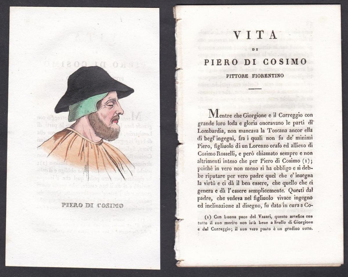 Piero di Cosimo - Piero di Cosimo (1462-1522) Maler painter Italien Italia Portrait Kupferstich copper engravi