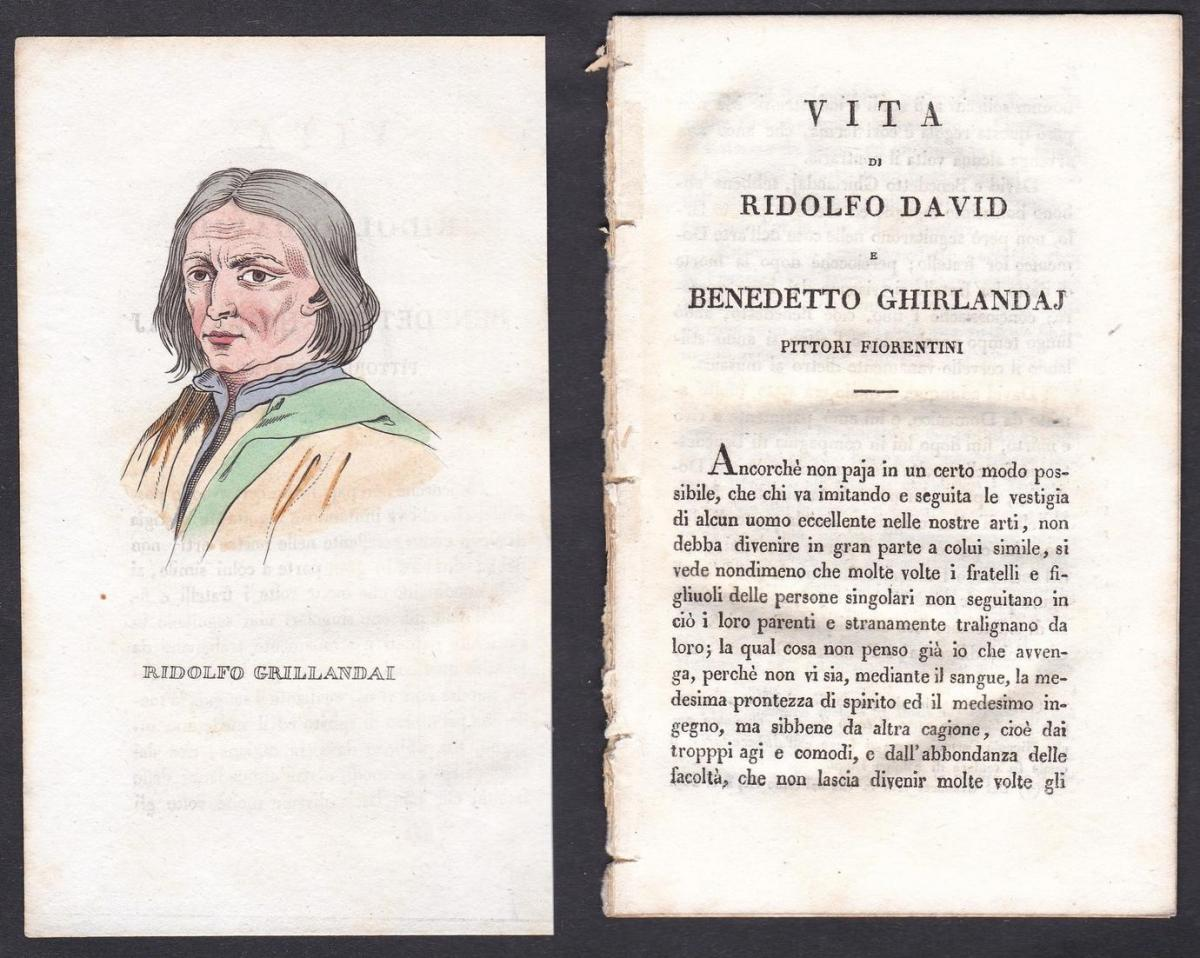 Ridolfo Grillandai - Ridolfo Ghirlandaio (1483-1561) Maler painter Italien Italia Portrait Kupferstich copper