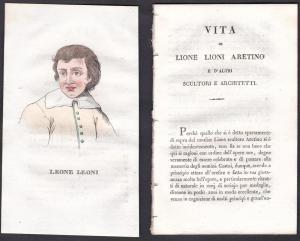 Leone Leoni - Leone Leoni (1509-1590) Bildhauer sculptor Italien Italia Portrait Kupferstich copper engraving