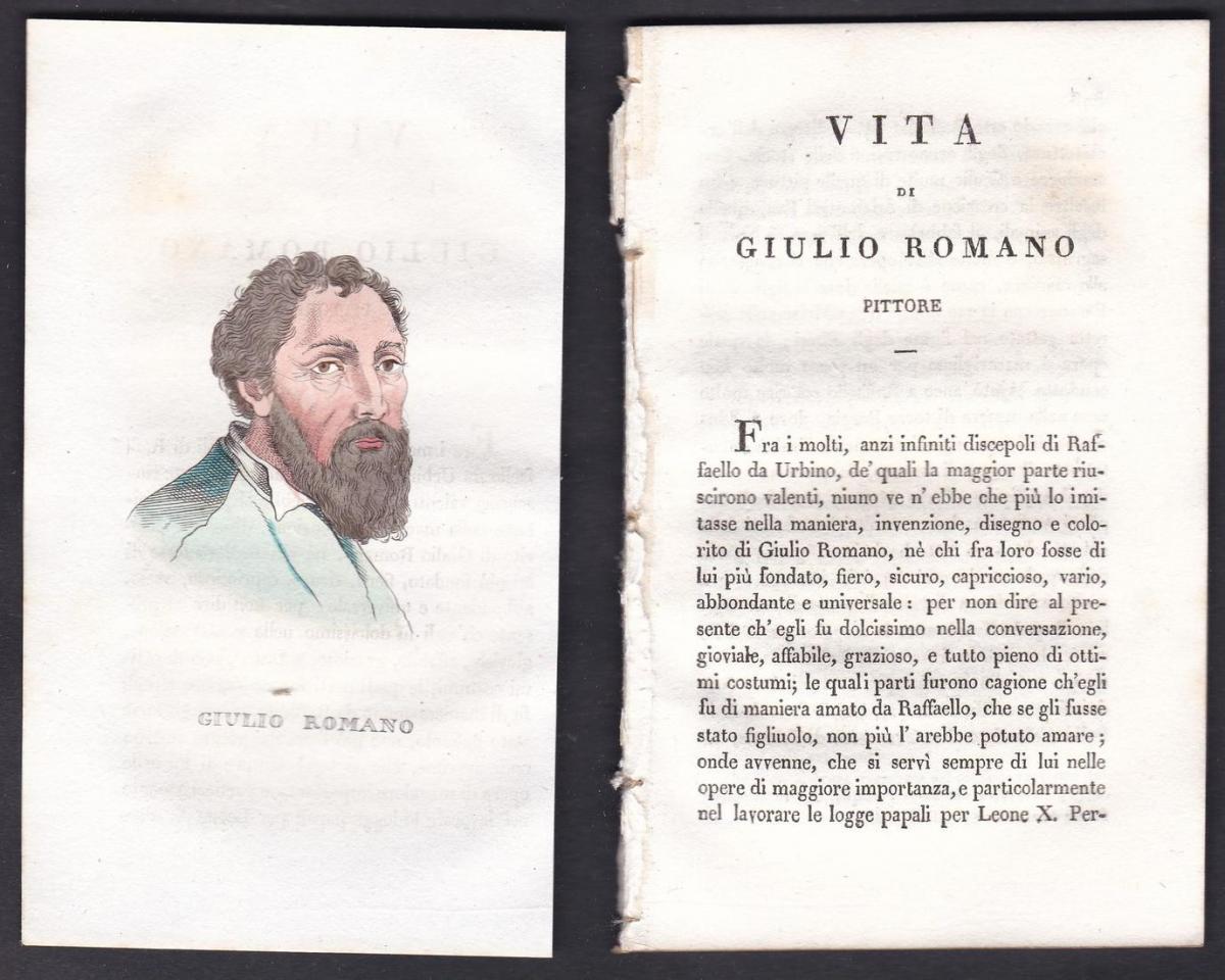 Giulio Romano - Giulio Romano (1499-1546) Maler painter Italien Italia Portrait Kupferstich copper engraving a