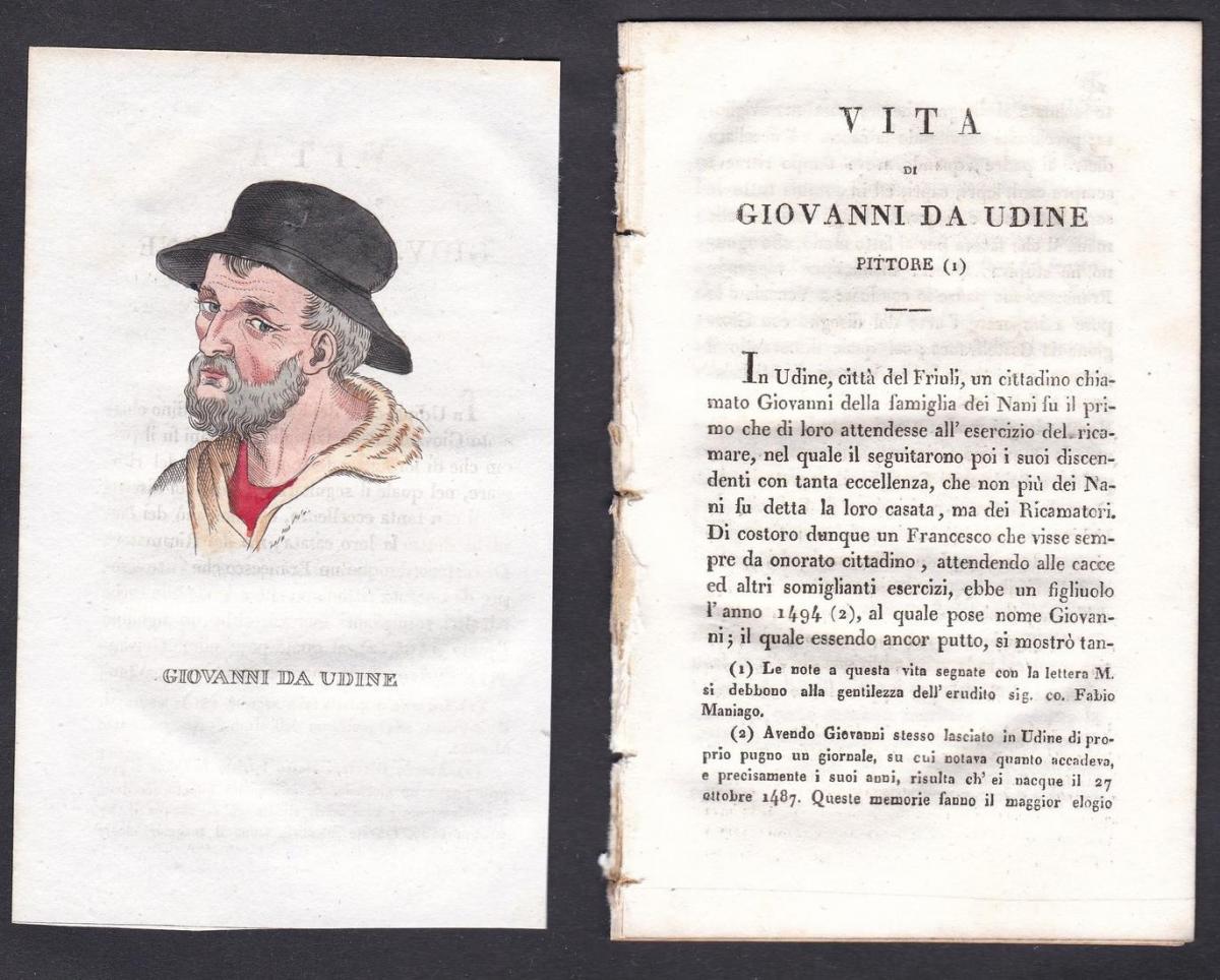 Giovanni da Udine - Giovanni da Udine (1487-1564) Maler painter Italien Italia Portrait Kupferstich copper eng