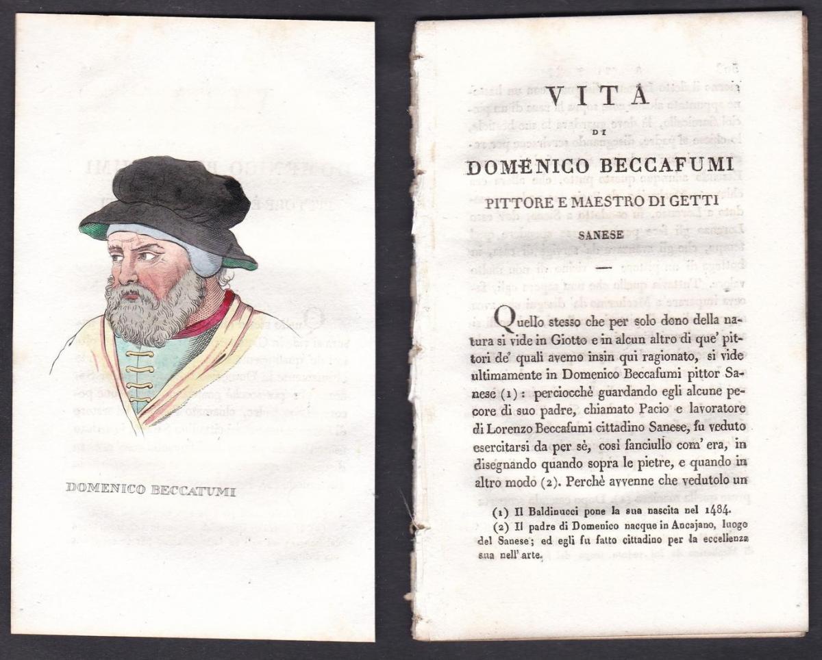 Domenico Beccatumi - Domenico Beccafumi (1486-1551) Maler painter Italien Italia Portrait Kupferstich copper e