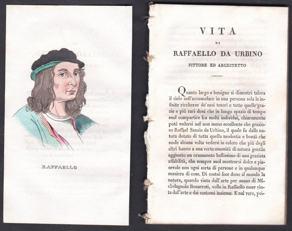 Raffaello - Raffaello Sanzio da Urbino (1483-1520) Maler painter Italien Italia Portrait Kupferstich copper en