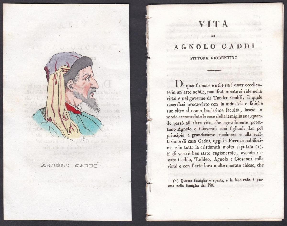 Agnolo Gaddi - Agnolo Gaddi (1350-1396) Maler painter Italien Italia Portrait Kupferstich copper engraving ant