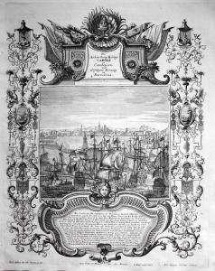 Die Anländung Königs Caroli in Catalonien und erfolgter Einzug in Barcelona - Barcelona Catalonia Cataluna Kat