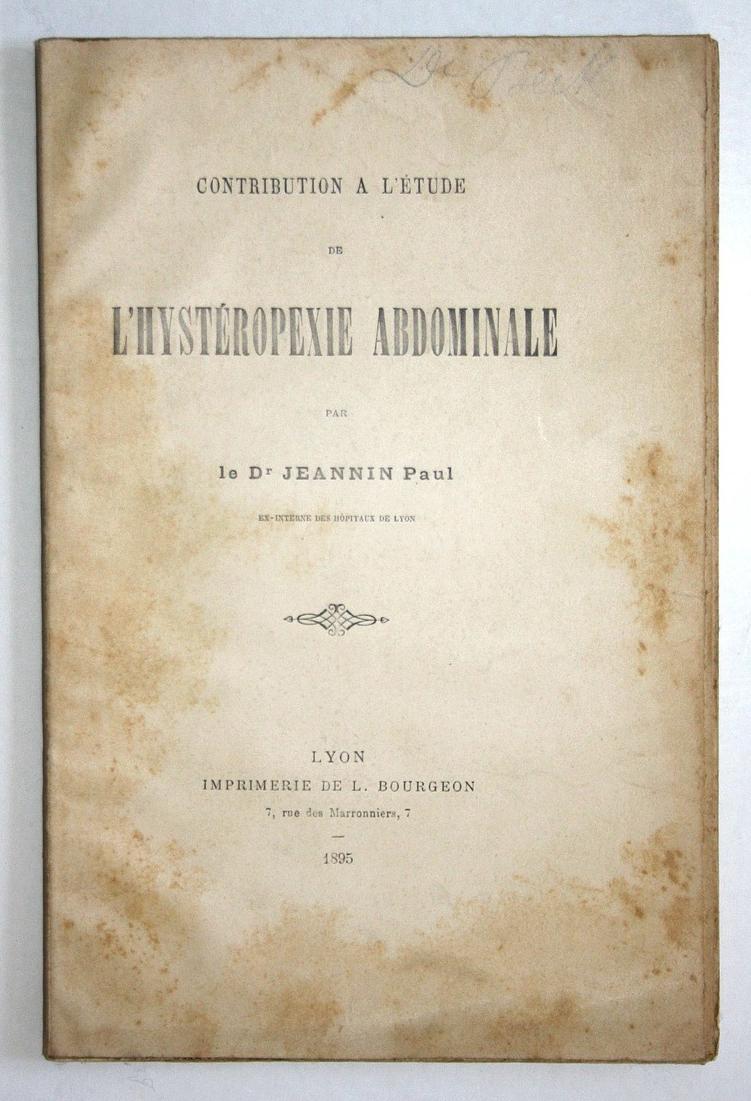 Contribution A L'etude L'hysteropexie Abdominale