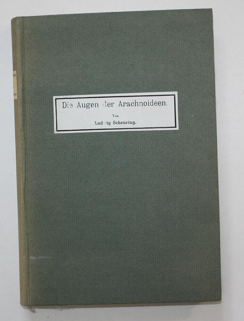 Die Augen der Arachnoideen. Abdruck aus den Zoologischen Jahrbüchern. Zwei Teile in einem Band.