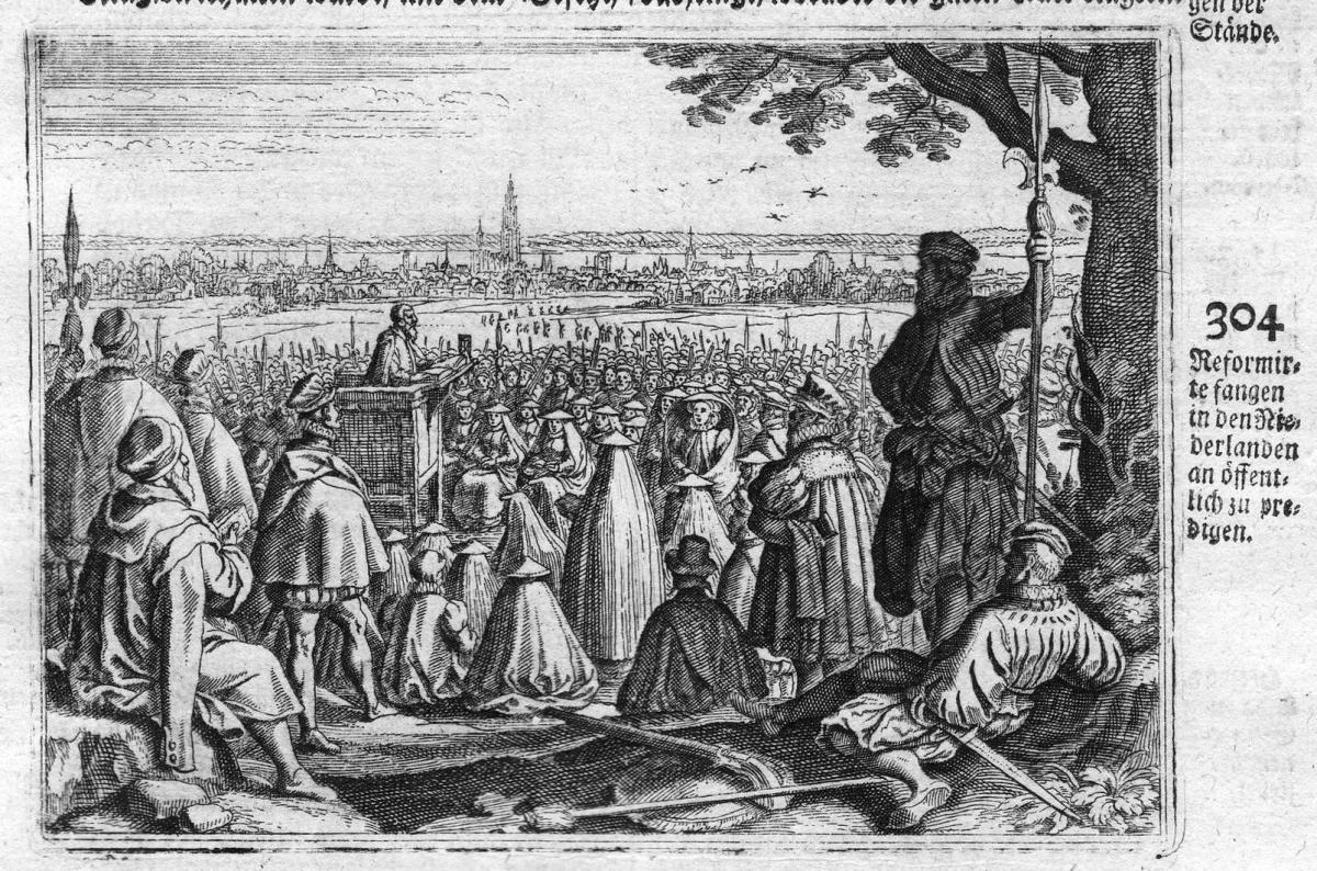 Reformirte fangen in den Niederlanden an öffentlich zu predigen - Predigt sermon Christen Niederlande Netherla