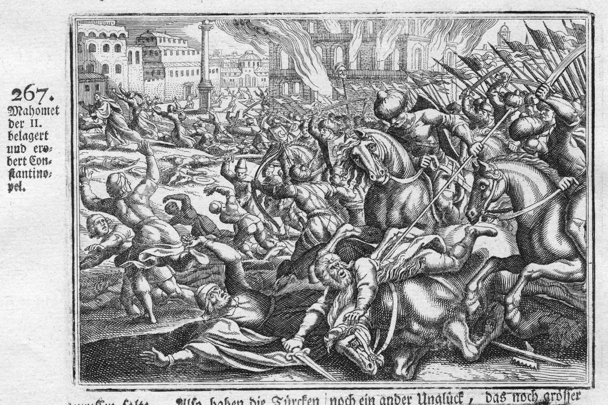 Mahomet der II belagert und erobert Constantinopel - Mehmed II Konstantinopel Eroberung conquest Istanbul Anti