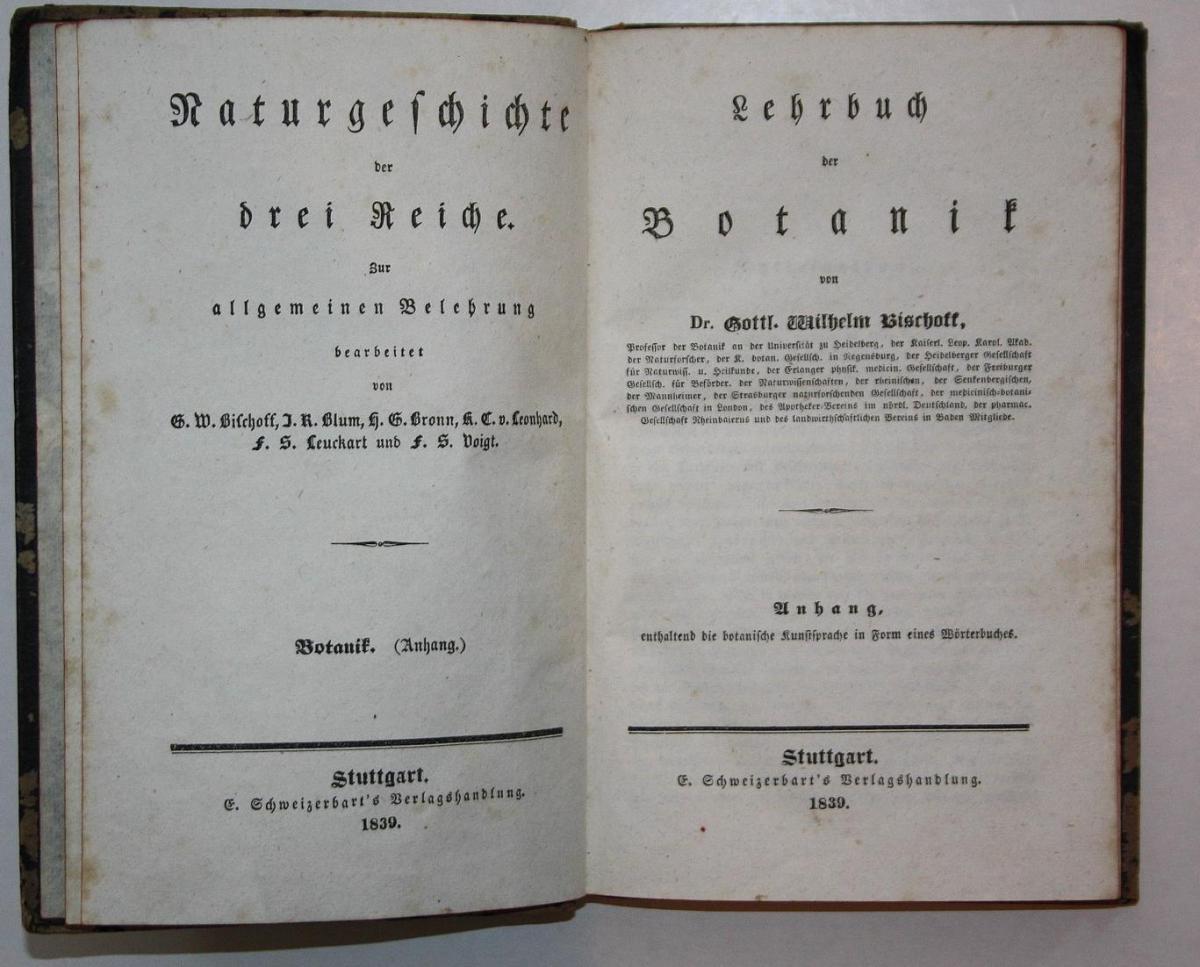Lehrbuch der Botanik. Naturgeschichte der drei Reiche zur allgemeinen Belehrung.