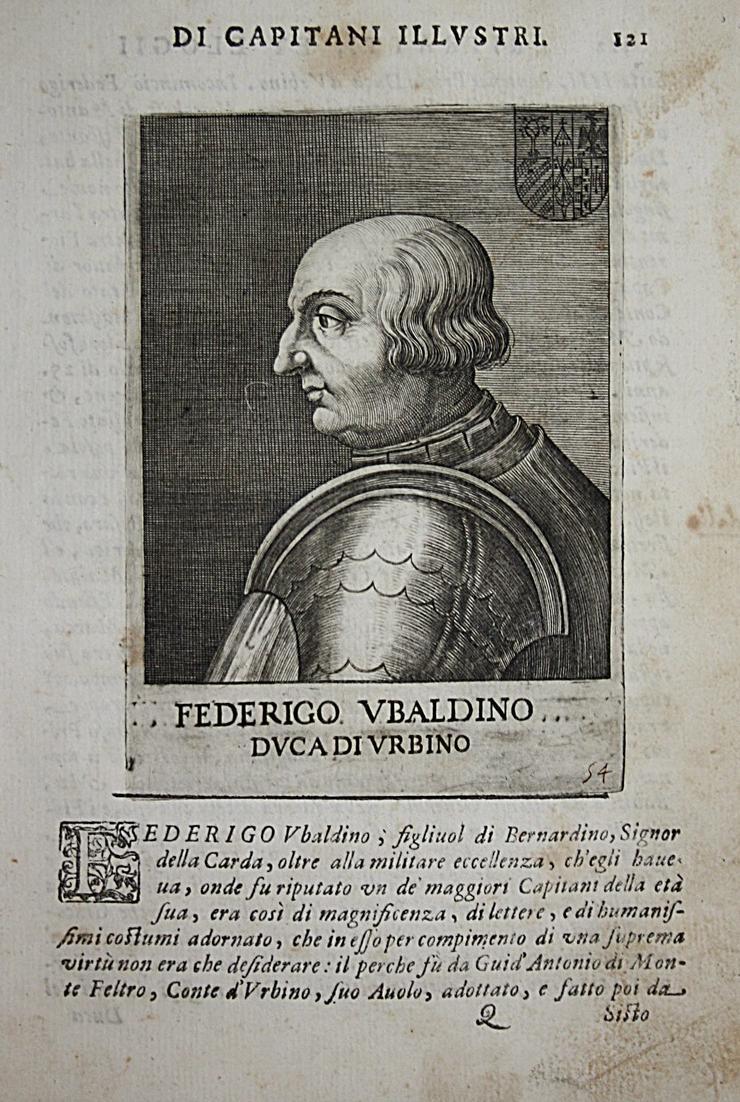 Federico Vbaldiono  Federico da Montefeltro (1422-1482) -- Urbino Castel Durante Condottiero 0