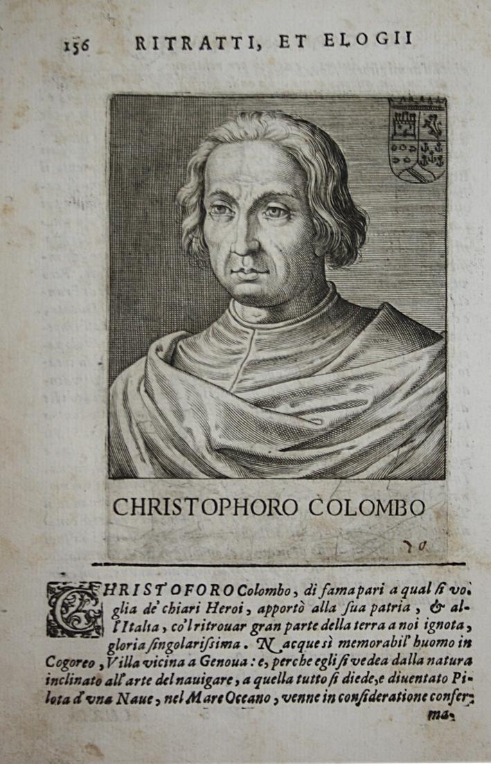 Christophoro Colombo Christopher Columbus (1452-1508) -- explorer colonist America 0