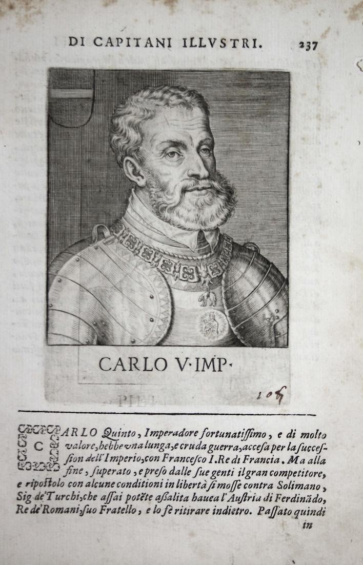 Carlo V IMP Karl V (1500-1558) -- Kaiser Habsburg Charles emperor Italia 0