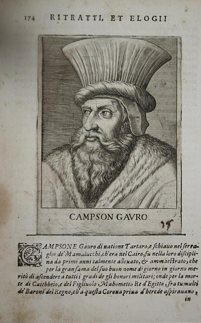 Campson Gavro Al-Ashraf Qansuh Al-Ghuri (1441-1516) -- Mamluk Sultan Egypt Portrait Kupferstich engraving 0
