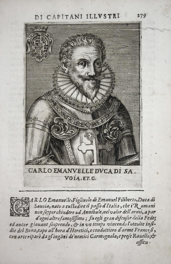 Carlo Emanvelle DVCA DI SA VOIA Carlo Emanuele I (1580-1630) -- di Savoia Piemonte Aosta Moriana 0
