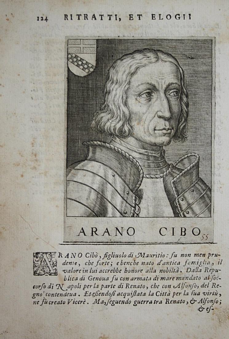 Arano Cibo Aronne Cibo Cybo  (1377-1457) -- Mauritius Condottiero Italia 0