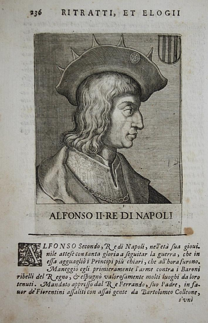 Alfonso II Re Di Napoli  Alfonso II di Napoli (1448-1495) -- Calabria König King Naples 0